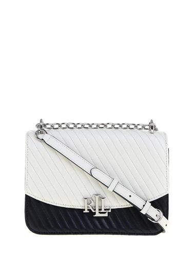 Ralph Lauren Lauren Ralph Lauren Beyaz - Siyah Omuz Çantası Beyaz